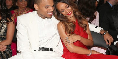 Chris Brown + Rihanna Snuggle Up at Grammys